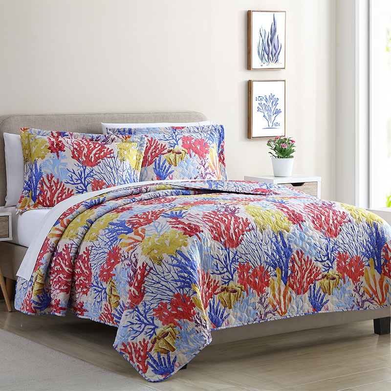 coral reef quilt 3pc set