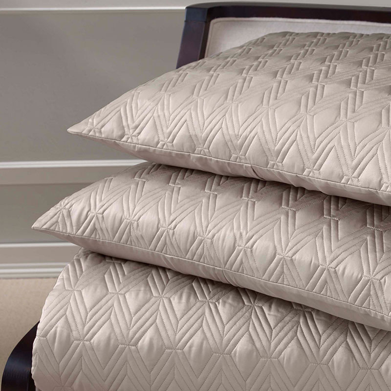 taupe embroidery bedding set