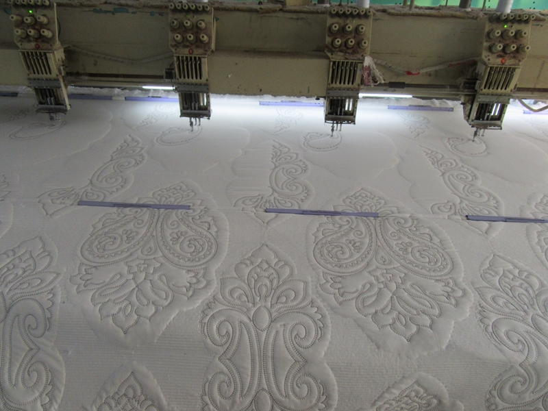 embroidered quilt bedspread