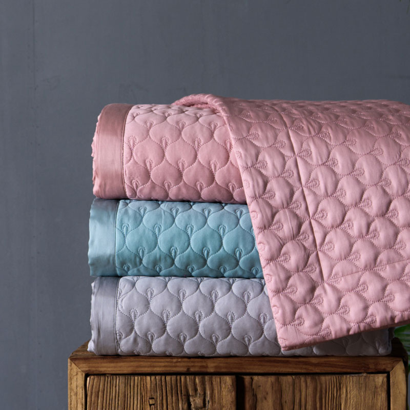 silk quilted bedspread