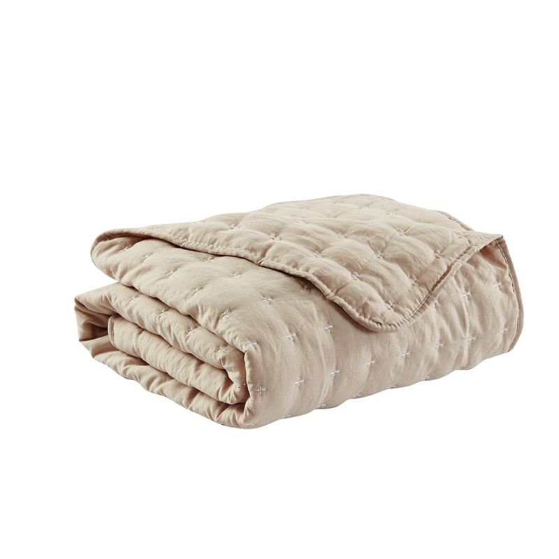 garment washed quilted throw blankets