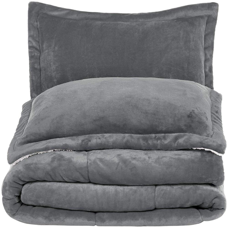 quilted flannel sherpa comforter and shams