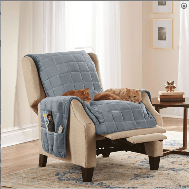 quilted solid dog furniture protector
