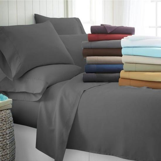 4 piece sheet set and pillowcase