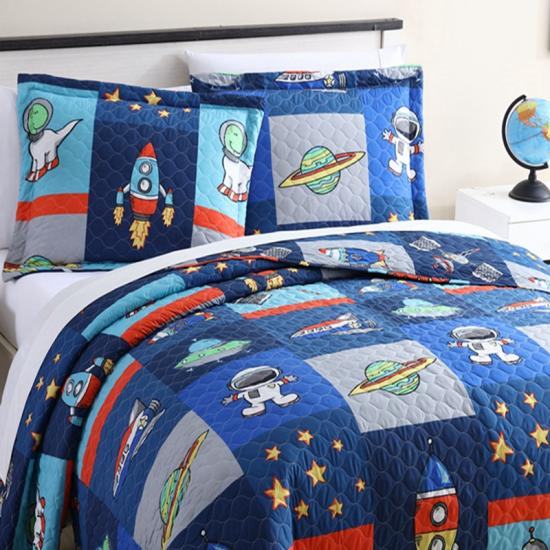 outer space baby quilt | juvi quilt cover outer space