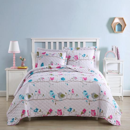 Eule Kinder Quilt Set Twin