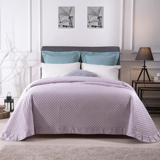 satin quilted bedspread